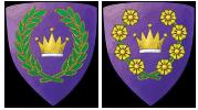 East Kingdom King & Queen Badges